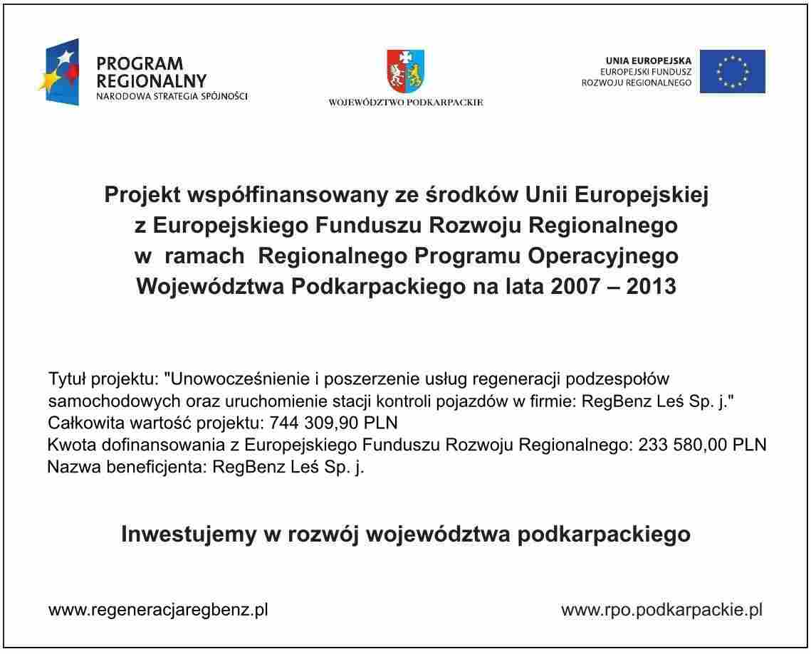 tablica informacyjna projektu EU
